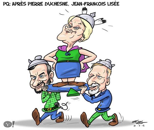Caricature-Lisée-Duchesne-Marois