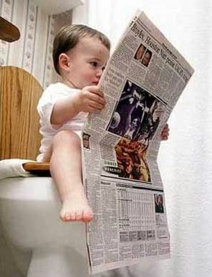 babyreadingnewspaper