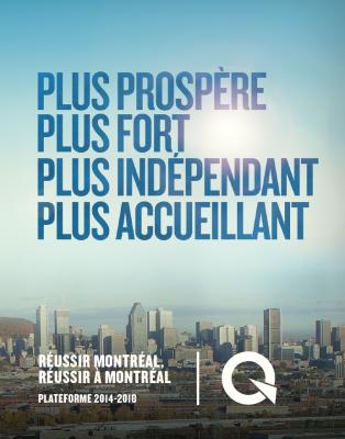 Plateforme 2014-2018 Réussir Montréal, Réussir à Montréal