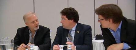 Avec Bernard et Sylvain Gaudreault, au caucus cette semaine