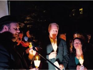 Avec le maire Benoît Dorais et ma collègue Martine Ouellet à la vigie lundi soir.