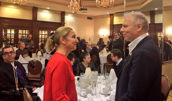 Avec Anne Pelletier, présidente du ROPMM Crédit : verobergeron / Twitter