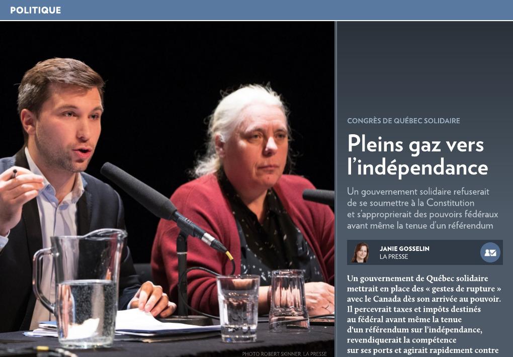 Manon Massé, Québec Solidaire